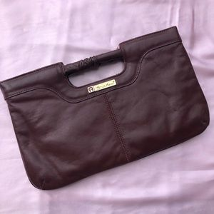 Etienne Aigner Brown Leather Clutch
